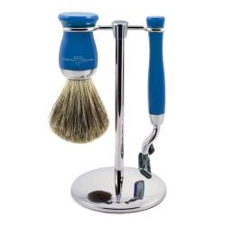 Edwin Jagger 3pc Blue Shaving Set (Mach3)