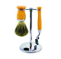Edwin Jagger 3pc Yellow Shaving Set (Mach3)