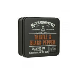 Scottish Fine Soaps Thistle & Black Pepper Shampoo Bar 100g