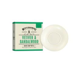 Scottish Fine Soaps Vetiver & Sandalwood Shave Soap Refill 100g
