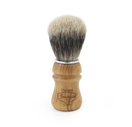 Semogue Owners Club Cherry Wood Silver Tip Shaving Brush