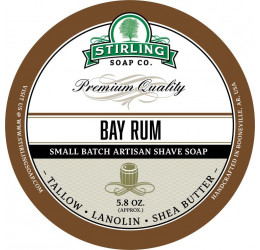 Stirling Soap Company Bay Rum Shave Soap 164g