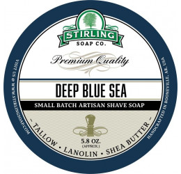 Stirling Soap Company Deep Blue Sea Shave Soap 164g
