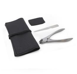Suwada Nail Nipper Classic & File Set Black Leather Case
