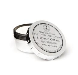 Taylor of Old Bond Street Platinum Collection Shaving Cream (150g Tub) open