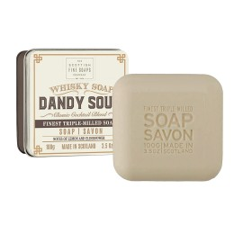 Scottish Fine Soaps Dandy Sour Whisky soap in a tin