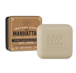 Scottish Fine Soaps Manhattan Whisky soap in a tin