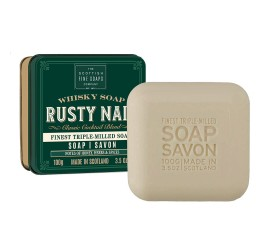 Scottish Fine Soaps Rusty Nail Whisky soap in a tin